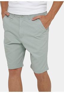 Bermuda Blue Bay Sarja Bolso Faca Color Masculina - Masculino