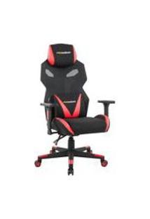 Cadeira Gamer Executiva Pro-X Gaming Reclinavel Giratoria Preto/Vermelho - Gran Belo