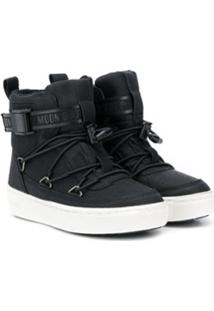 Moon Boot Kids Buckle-Up Ankle Boots - Preto
