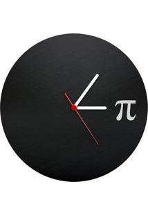 Relógio De Parede Ecológico Pi Geek10 - Preto
