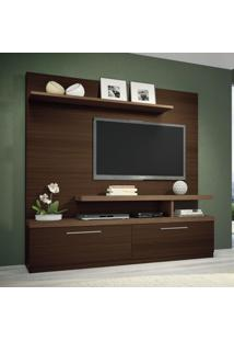 Estante Para Home Theater Maxx Mocaccino E Macchiato Texture Alto Relevo Hb Móveis