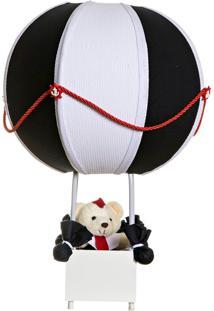 Abajur Balãozinho Náutico Ursinho Marinheiro Infantil Potinho De Mel Marinho - Kanui