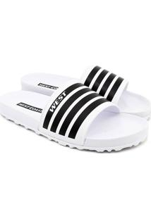 Chinelo Slide West Coast Zuma - Masculino-Branco