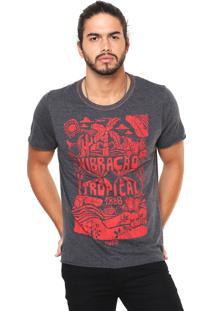 Camiseta Coca-Cola Jeans Estampada Grafite