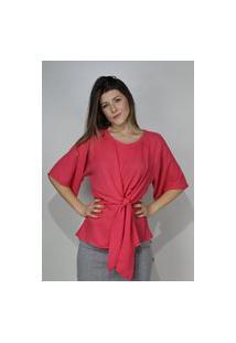 Blusa Dona Popi Nó Frente Pink