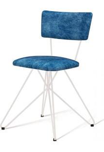 Cadeira Pop Azul Base Estrela Branca - 49563 - Sun House