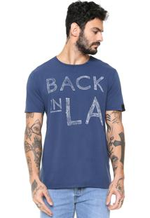 Camiseta Replay Back In La Azul