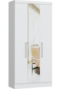 Modulo Com 3 Portas E 2 Gavetas C/ Espelho Infinity 3830A-Castro Móveis - Branco