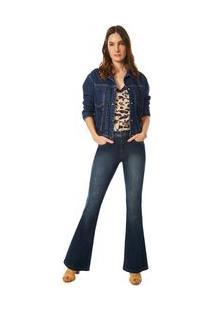 Jaqueta Maria.Valentina Classica Com Pregas Jeans