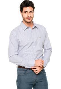 Camisa Mr Kitsch Listrada Branca/Azul