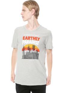 Camiseta Calvin Klein Jeans Earthly Paradise Cinza