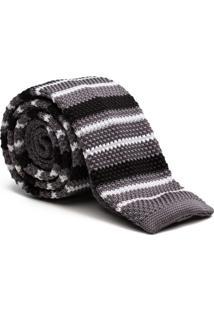 Gravata Tricot Stripe - Grey
