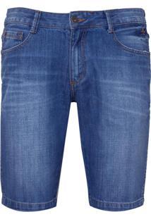 Bermuda Dudalina Blue Reservas Jeans Masculina (Jeans Medio, 38)