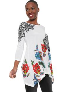 Blusa Desigual Ramona Branca - Branco - Feminino - Viscose - Dafiti