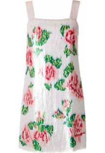 Dolce & Gabbana Vestido Curto Floral Em Paetês - Estampado