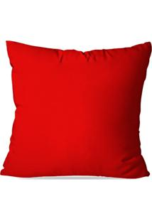 Capa De Almofada Avulsa Vermelho 35X35Cm