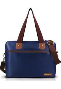 Bolsa Para Trabalho Masculina Jacki Design Microfibra - Masculino-Marrom+Azul