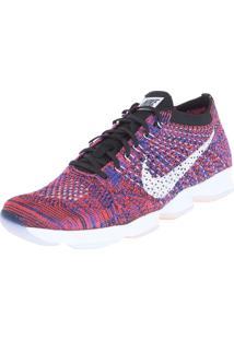 Tênis Nike Wmns Flyknit Zoom Agility Azul/Coral