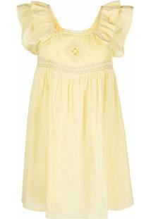 Ba&Sh Vestido Uriel De Algodão - Amarelo