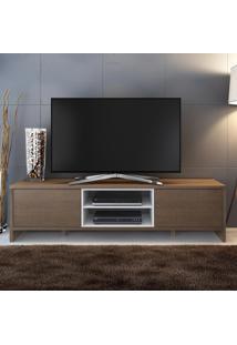 Rack Para Tv 2 Portas Sydney Rustic/Branco - Madesa