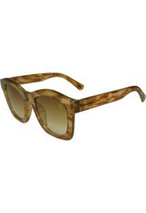 Óculos De Sol Mackage Feminino Acetato Oversize Quadrado - Tarta Rajado