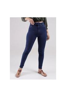 Calça Jeans Hot Pant Mokkai Feminina Azul