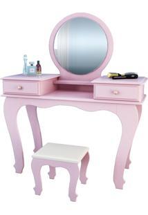 Penteadeira 7800 Luxo Rose Brilho Móveis Jb Bechara