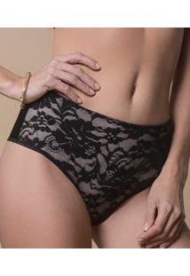 Calça Alta Modeladora Skin Deep Em Renda Lucitex Elegância Shapewear (4816)