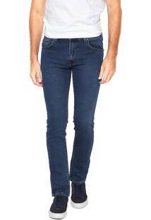Calça Jeans Lee Skinny Powell Azul-Marinho