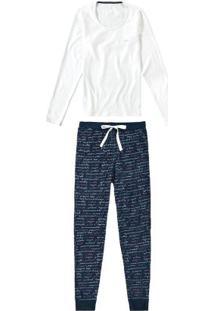 Pijama Rosa Claro Longo Com Nécessaire