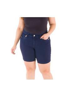 Bermuda Special Jeans Bolso Com Galões Loony Jeans