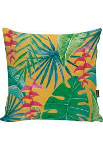 Capa De Almofada Tropical- Amarela Escuro & Verde- 4Stm Home