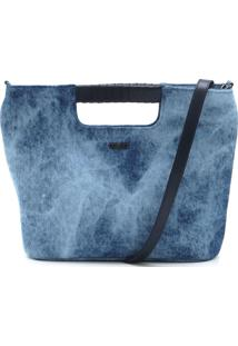 Bolsa Colcci Desbotada Azul