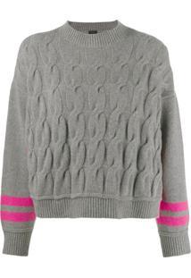 Pinko Suéter De Tricô - Cinza