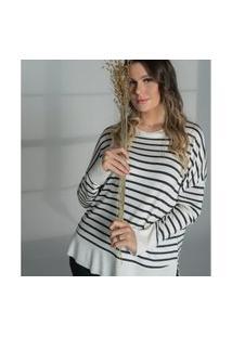 Blusão Lurex Prata Secret Glam Bege