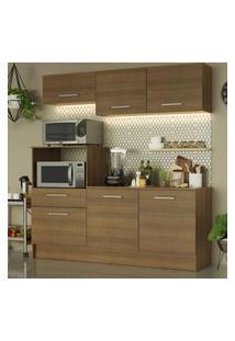 Cozinha Compacta Madesa Onix 180001 Com Armário E Balcáo - Rustic Marrom