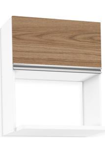 Aéreo De Cozinha Modulada Para Forno, Branco Fosco Com Amêndoa, Touch