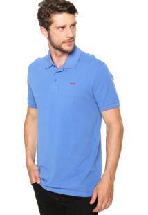 Camisa Polo Sommer Bordado Azul