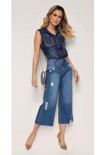 Calça Jeans Zait Wide Leg Boca Larga Bel - Feminino