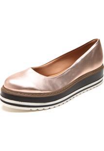 Sapatilha Dafiti Shoes Flatform Listras Rosê