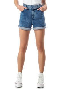 Bermuda Azul Boyfriend Em Jeans