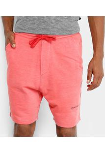 Bermuda Moletom Calvin Klein Logo Masculina - Masculino-Vermelho