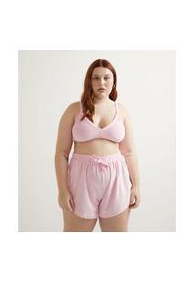 Top Sem Bojo Curto Em Plush Curve & Plus Size | Ashua Curve E Plus Size | Rosa | G