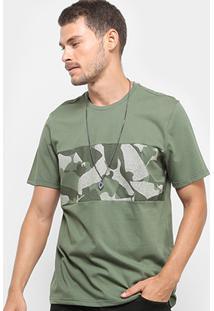 Camiseta Burn Recorte Camuflado Sneakers Masculina - Masculino