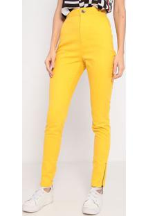 Calça Skinny Em Sarja- Amarela- My Favorite Thingsmy Favorite Things