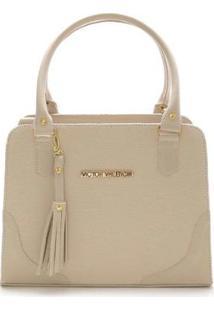 Bolsa Tiracolo Versalhes Grande Victor Valencia - Feminino-Off White