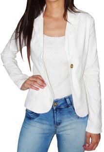 Blazer Sarja Aero Jeans Branco