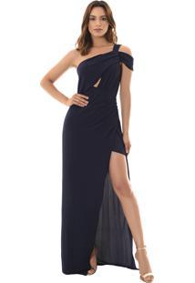 Vestido Crepe Drapeado feminino  d4c463100138