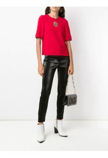 Dolce & Gabbana Blusa Com Bordado - Vermelho