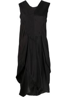 Rick Owens Vestido Com Detalhe Franzido - Preto